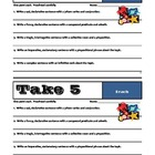 TAKE 5 - Set #2 - Grammar &amp; Sentence Writing Skills - Comm
