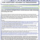 TALKING QR codes for Auditory Memory & Processing
