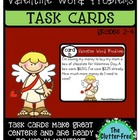 TASK CARDS: VALENTINES DAY WORD PROBLEMS