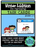 TASK CARDS: WINTER ADDITION WITHOUT REGROUPING