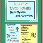 TAXONOMY Basics Review: Text and Practice