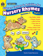 Full-Color Literacy Activities & Centers for Nursery Rhyme