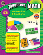 Targeting Math: Numeration and Fractions: Grades 5-6 (Enha