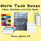TEACCH Work Task Schedules, Labels, and Data Sheets