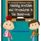 TEACHING CLASSROOM PROCEDURES &amp; ROUTINES WORKBOOK