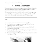 TEENAGERS - MINI UNIT Reading and activities