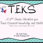 TEK Checklist for 2nd Grade