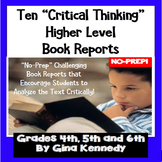 TEN BUNDLED Creative & DIFFERENT Book Reports, Projects &