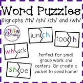 TH and SH Word Puzzle and Word Sort