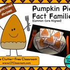THANKSGIVING PIE x / ÷ FACT FAMILY TRIANGLE FLASH CARDS C