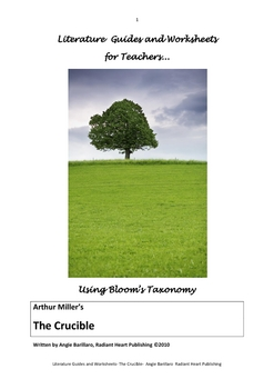 THE CRUCIBLE - ARTHUR MILLER TEACHER TEXT GUIDES AND WORKSHEETS