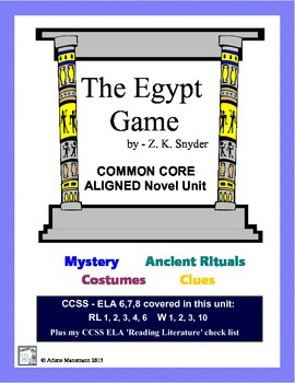 THE EGYPT GAME Novel Study