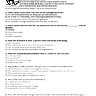 THE HUNGER GAMES Close Reading Test, Chapters 19-27