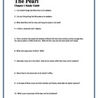 THE PEARL by John Steinbeck Chapter I Study Guide Question