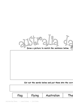"""THEME BOOKS"" - LOWER PRIMARY!! Australia Day Workbook!!"