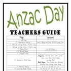 &quot;THEME BOOKS&quot; - MIDDLE PRIMARY!! Anzac Day Workbook!! AUS. ONLY