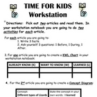 TIME FOR KIDS Magazine Reading Skills Activity
