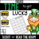 TIME to get Lucky {Time to hour and half hour FREEBIE}