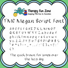 TMC Megan Script Font with commercial license