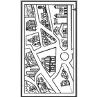 TOWN MAP/CITY MAP-1 PAGE - (UNIVERSAL) NO WORDS-12 places