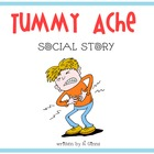 TUMMY ACHE Autism Social Story Flash Cards