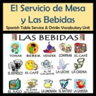 Table Service &amp; Drinks Vocabulary Activities &amp; Games Unit 