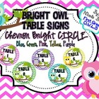 Table Signs Bright Owl Chevron CIRCLE