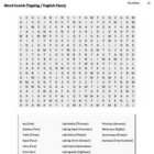 Tagalog Vocabulary CrossWord and Word Search (Numbers)