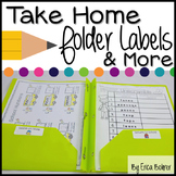 Take Home Folder and Stay in School Folder Labels and Pare