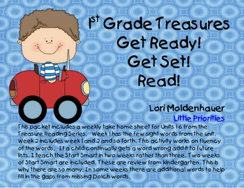 Take Home Sight Word Homework First Grade Treasures