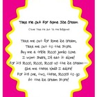Take Me Out For Some Ice Cream, fluency, sequence strips,
