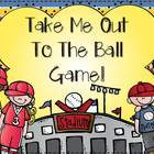 Take Me Out To The Ball Game {7 Math and 7 Literacy Baseba