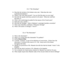 Tale of Two Cities - Book the First - Ch. 5&6 Study Questions