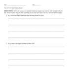 Tales of a Fourth Grade Nothing Comprehension Questions