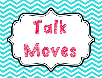 """Talk Moves"" Meaningful Discussions Posters"