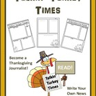 Talkin' Turkey Times: A Thanksgiving Newspaper Writing Activity