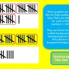 Tallies Clip Art - Math Common Core Numbers 1-120