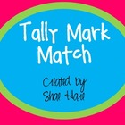 Tally Mark Match - Tallies - Flash cards - Common Core Math