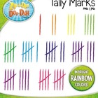 Tally Marks Clipart  Fun &amp; Bright Rainbow Colors!