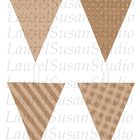 Tan Mocha Taupe Brown Printable Flags PDF Stripes Gingham
