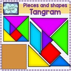 Tangram pieces - puzzle clip art