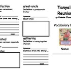 Tanya's Reunion Vocabulary Fold-able