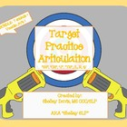 Target Practice Articulation Pack Bundle- SH, CH, TH, R, S, and L