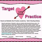 Target Practice Long Vowels Valentine Sorting Center