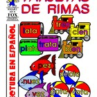 Tarjetas de Rimas (Rhyming Word Families in Spanish)