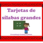 Tarjetas de Silabas - Spanish Syllables