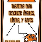 Lines and Angles Math Task Cards in Spanish