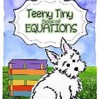 Taryn's Teeny Tiny Monthly Equations Booklets