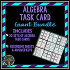 Task Card Bundle: Set of 11 Algebra Task Card Sets