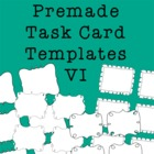 Task Card Frames and Borders 6 - Template